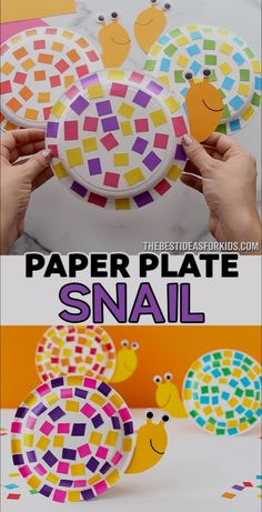 PAPER PLATE SNAIL 🐌😍 - such a fun snail craft for kids! Easy craft for preschool or kindergarten to do too!<br> This easy paper plate snail craft uses leftover scrap paper for the shell! You can easily make this with our snail template too! Paper Plate Crafts For Kids, Easy Paper Crafts, Fun Crafts For Kids, Easter Crafts, Paper Crafting, Wood Crafts, Quick Crafts, Thanksgiving Crafts, Easy Toddler Crafts