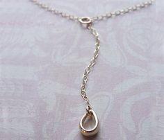 Dewdrop Lariat Necklace