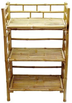 for a sturdy solution to all your storage needs give bamboo furniture a try with this 3 tier bamboo shelf by made from real durable bamboo wood building bamboo furniture