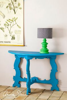 Table painted in Chalk Paint® in new cool, blue Giverny