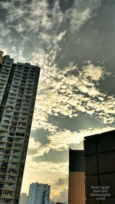 黃昏魚鱗雲今天看來很美麗!!!