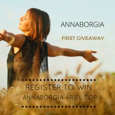 $200 Value GIVEAWAY - Our whimsical Ariel Top is up for grabs! participating requires two simple steps, register and share away. Details on www.annaborgia.com/giveaway