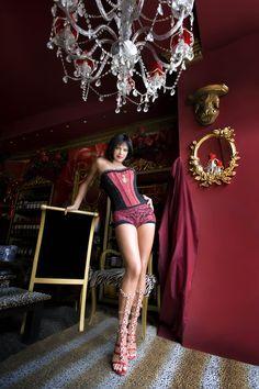 Demetra Hempton for Anna Carnovale Corset Designer.#vanixashowroom#vanixa#milano#fuorisalone