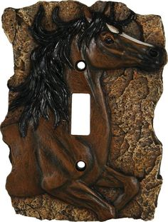 Western Horse Single Switch Cover Plate