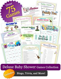 The Deluxe Baby Shower Games Collection