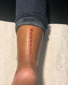 Red Ink Tattoos, Dainty Tattoos, Spine Tattoos, Badass Tattoos, Pretty Tattoos, Small Tattoos, Script Tattoos, Flower Tattoos, Foot Tattoos Girls