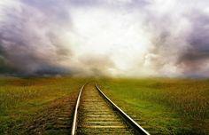 Δρόμος, Τρένο, Τοπίο, Καταιγίδα, Σύννεφα, Φαντασία