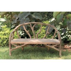 Arbor Bench - made of concrete to withstand the elements, but looks like tree branches!