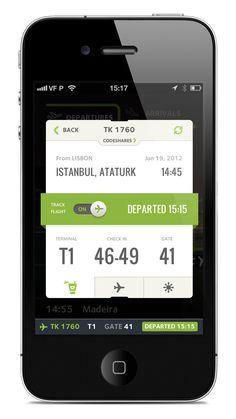 Boarding pass app.
