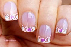 #Drymarble #Frenchmanicure using #needle & #dottingtool French Manicure Nails, French Manicure Designs, Nail Designs, French Nail Art, Dotting Tool, Easy Nail Art, Nail Tutorials, Simple Nails, Easy Diy