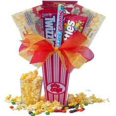 Art of Appreciation Gift Baskets Concession Stand Popcorn & Candy Gift Set
