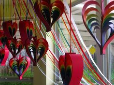 Rainbow wedding heart Idea
