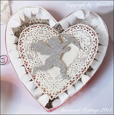 Welcome to Boxwood Cottage: Pretty neutral Valentine's day swap creations and an apology!