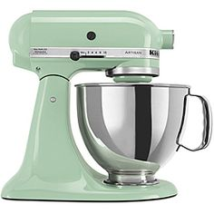Make almost any batter or dough with this 5-quart mixer from KitchenAid's Artisan Series. With a 2-piece pouring shield that includes a chute, you will be able to add the finest ingredients to create
