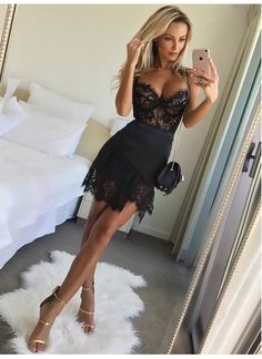 On Sale Nice Black Party Dresses, Homecoming Dress Lace, Black Lace Party Dresses Cute Dresses For Party, Lace Party Dresses, Sexy Dresses, Lace Dress, Evening Dresses, Linen Dresses, Holiday Dresses, Crochet Lingerie, Party Kleidung