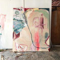 Work in progress. . . #contemporarypainting #workinprogress #abstraction #studiohelenteede