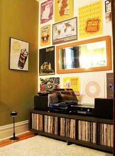 Vintage-Inspired DIY Modern Apartment (sideboard for behind sofa?)