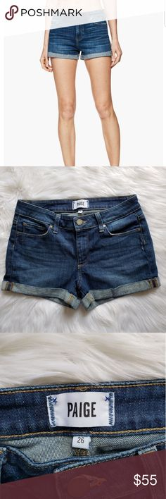 PAIGE Jimmy Jimmy shorts denim Paige Denim Jimmy Jimmy shorts Size 26  NWOT Like new! PAIGE Shorts Jean Shorts