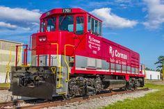 RJ Corman Train 1701  #Train #RJCorman #Corman #1701 #Railroad #Rail #RedTrain #TrainEngine #Engine #Conway #SouthCarolina #HorryCounty #Sky #Cloud #Clouds