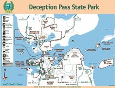 Thumbnail map of deception pass State Park State Parks, Vernon Hills, Washington State, Washington Hiking, Deception Pass, Evergreen State, Vancouver Island, Pacific Northwest, Outdoor Activities