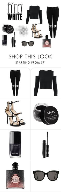 """Bez naslova #38"" by flawsome32 ❤ liked on Polyvore featuring Boohoo, Giuseppe Zanotti, NYX, Chanel, Yves Saint Laurent and Gentle Monster"