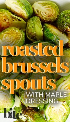 In 1812, Thomas Jefferson introduced Brussels sprouts to the United States. Over 200 years later, we're still roasting these fiber-and-vitamin-rich sweet emerald gems until golden-crusted. Tossed in a sweet and tangy maple mustard vinaigrette, these tender sprouts are going to have an entire nation jumping on the Brussels bandwagon. #FallRecipes #winterrecipes #healthyrecipes