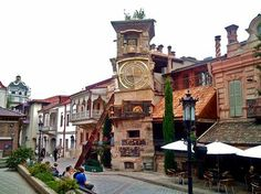 Steampunk Tendencies | The leaning clock tower of Tbilisi, Georgia  http://www.pinterest.com/pin/148900331404388642/ New Group : Come to share, promote your art, your event, meet new people, crafters, artists, performers... https://www.facebook.com/groups/steampunktendencies