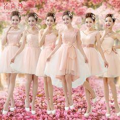 EShow Nova na altura do joelho vestido de dama curto chegada fora do ombro de noiva vestidos de dama de honra rosa plus size vestidos de festa nupcial em Vestidos de Madrinha de Roupas & acessórios no AliExpress.com | Alibaba Group