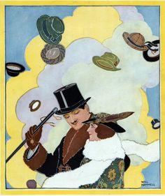 Chapéus em Air Poster Vintage
