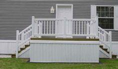 Vinyl Siding Premium Skirting - Eagle Siding Skirting StyleCrest ... Outdoor Stair Railing, Porch Stairs, House Stairs, House Skirting, Deck Skirting, Mobile Home Parts, Small Porches, Home Porch, Vinyl Siding