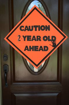 Construction party sign, so cute!