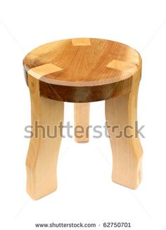 Chair wooden with three legs by Richard Peterson , via ShutterStock Handmade Furniture, Home Decor Furniture, Wood Furniture, Wooden Sofa Designs, Chair Design Wooden, Wooden Projects, Wood Crafts, Staircase Wall Decor, Cladding Panels