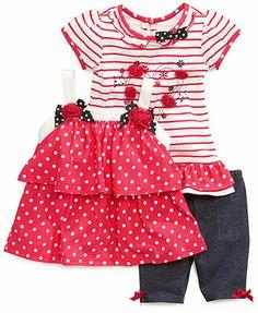 Nannette Baby Girls' 3-Piece Tank, Tee & Shorts Set