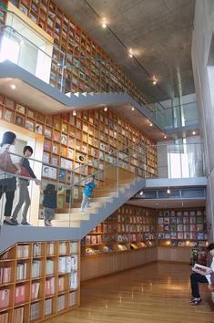 Library Plan, Kids Library, Modern Library, Library Design, Library Books, Library Architecture, Interior Architecture, Library Shelves, Tadao Ando