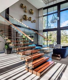 Apartment design exterior lights 19 ideas for 2019 Luxury Interior Design, Luxury Home Decor, Interior Architecture, Interior Stairs Design, Amazing Architecture, Interior Ideas, Design Exterior, Diy Exterior, Mansions Homes