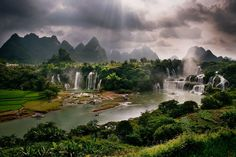 Cao bang waterfalls, Vietnam