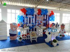 Decoração tema Ursinho Marinheiro para festa infantil
