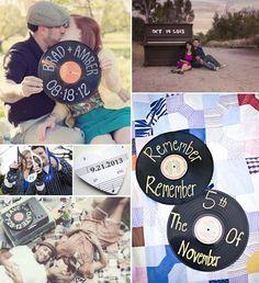Save the date inspiración musical. Post sobre bodas inspiradas en la música en http://losdetallesdetuboda.com/blog