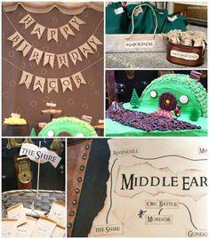 Lord of the Rings themed birthday party | Full of Fun Ideas via Kara's Party Ideas KarasPartyIdeas.com #lordoftherings #lordoftheringsparty