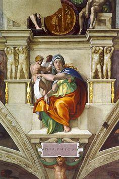 Michelangelo. Capilla Sixtina. Sibila Délfica