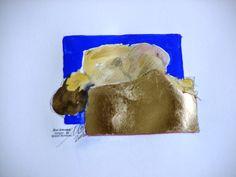 """""""Blaue Bewegung 5"""" Painting by Emo Schuschnig"""