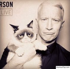 Anderson Cooper porte Tard dans les bras