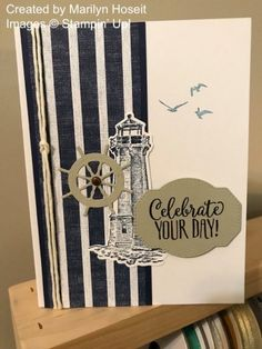 Twenty One Stampin' Up! Projects by Inkin' Krew Featured Stampers – Stamp With Amy K Masculine Birthday Cards, Birthday Cards For Men, Masculine Cards, Male Birthday, Boy Cards, Men's Cards, Nautical Cards, Nautical Anchor, Beach Cards