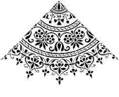 This is the stencil used to make the ceiling mural and it can be found at stencil-library.com