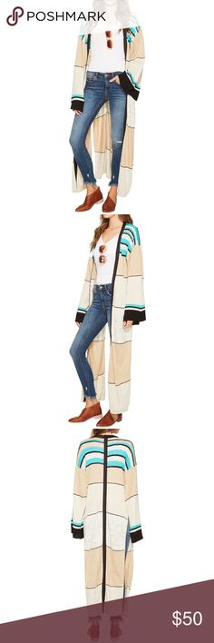 🆕Free People Walk The Line Cardi Cardi boasts a lightweight fabrication for effortless wear. Overall striping with vibrant pops of color. Open-front design. Long sleeve construction. Extended hemline with exaggerated split side seams. 45% linen, 40% cotton, 9% polyester, 5% viscose, 1% nylon. Hand wash and dry flat. Imported. Product measurements were taken using size SM (Women's 4-6). Please note that measurements may vary by size. Measurements: Length: 53 in Free People Sweaters Cardigans