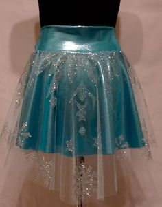Elsa's Frozen Running Skirt by RunPrincessRun on Etsy, $80.00