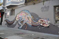 Explosive Anatomy – Retour sur les dernières créations street art de Nychos