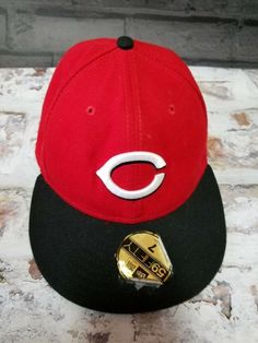outlet store 9e92d 43565 Cincinnati Reds Fitted Cap red sz 7 New Era MLB Official On-Field 59FIFTY  hat