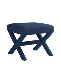 Denim   This modern classic adds style and wit to any setting. Impossibly chic opposite the sofa or at the foot of the bed; equally sharp at a console, vanity or desk.