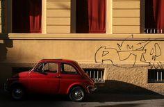 La 500 rossa by Daniele Marzocchi